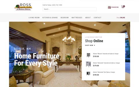 website-design-furniture-store Website Design Portfolio - Make it Active, LLC