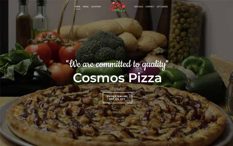 website-design-pizza Website Design Portfolio - Make it Active, LLC