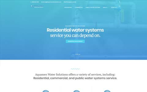 website-design-public-water-systems Website Design Portfolio - Make it Active, LLC